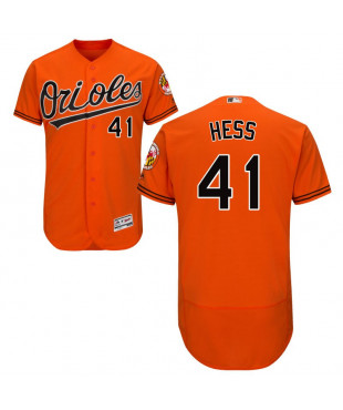 Baltimore Orioles David Hess Authentic Flex Base Collection Men's Majestic Jersey - Orange