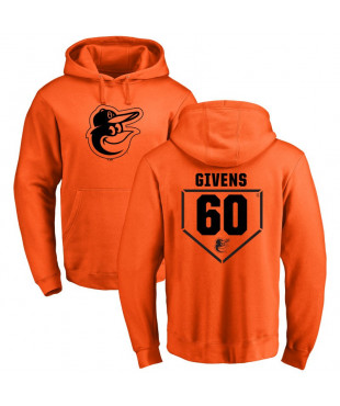 Men's Baltimore Orioles 60 Orange RBI Pullover Hoodie - Mychal Givens