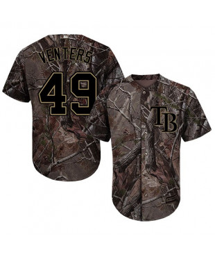 Tampa Bay Rays Jonny Venters Authentic Flex Base Realtree Collection Men's Majestic Jersey - Camo